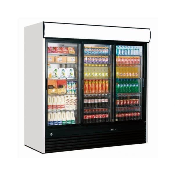 Armoire réfrigérée vitrine 3 portes coulissantes ice shop