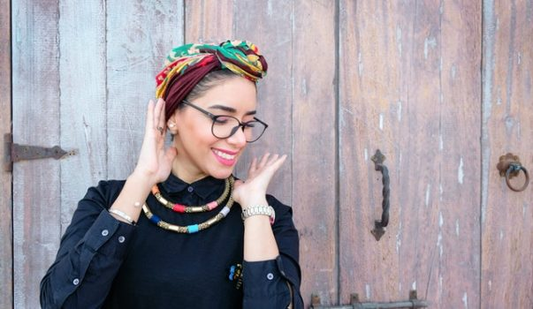foulard satin cheveux